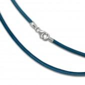 SilberDream Leder Armband 21cm türkis 2mm für Charms SML7521