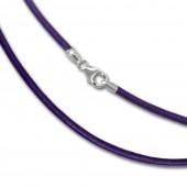 SilberDream Leder Kette 70cm lila 2mm für Charms SML7770
