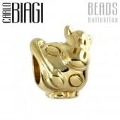 Carlo Biagi Bead Kuh 10 Kt gold European Beads BSGS136