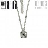 Original Carlo Biagi Bead Kette 85cm Silber BNLSSCCZA85