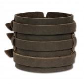 SilberDream Lederarmband braun Herren Leder Armband LA1772
