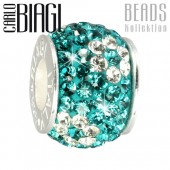 Carlo Biagi Swarovski Elements Bead Blume BBSCR02AQ