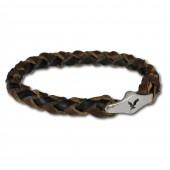 SilberDream Lederarmband braun DameHerr Leder Armband LA0050B