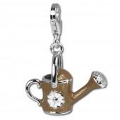 SilberDream 925 Charm Emaille Gießkanne Armband Anhänger FC602