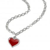SilberDream 925 Silber Herz Kette für Kinder SDK01138