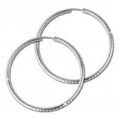 SilberDream Creole Schliff 60mm Ohrring 925 Silber SDO078