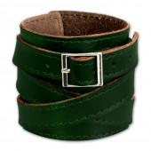 SilberDream Lederarmband dunkelgrün Herren Leder Armband LA1302G