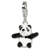 SilberDream Charm 925 Silber Panda Armband Anhänger FC634