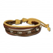 SilberDream Lederarmband braun Surferarmband Leder Armband LA1237B