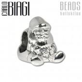 Carlo Biagi Bead Weihnachtsmann 925 Silber European Beads BBS319