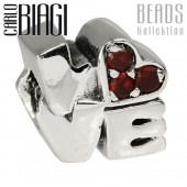Carlo Biagi Bead Love rot Zirkonia European - Beads BBSCZ110R