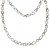 SilberDream Collier Kette oval offen 925 Silber 45cm Halskette SDK401