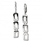SilberDream Ohrringe aus polierten Rechtecken Silber Ohrhänger SDO320