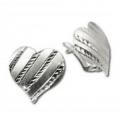 SilberDream Ohrringe Herz diamantiert 925 Sterling Silber Ohrstecker SDO312
