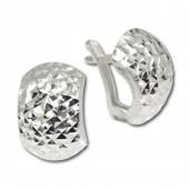 SilberDream Ohrring Glamour diamantiert 925 Silber Ohrstecker SDO315