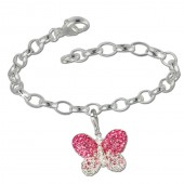 SilberDream 925 Charm Set Schmetterling Swarovski Elements Armband FCA133