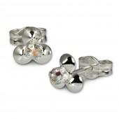 SilberDream Ohrringe Blümchen kristall 925 Silber Ohrstecker SDO530F