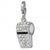 SilberDream Charm Pfeife Zirkonia 925 Silber Armband Anhänger FC648