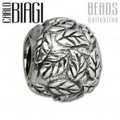 Carlo Biagi Bead Blätterkugel 925 Silber European Beads BBS177