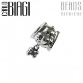 Carlo Biagi Dangle Bead Hund Silber European Beads BDDS05