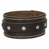 SilberDream Lederarmband braun Leder Armband LA3265B