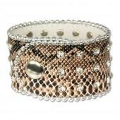 SilberDream Lederarmband braun Zirkonia Damen Leder Armband LAP229B