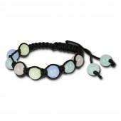 SilberDream Armband Kugel farbig im Surfer Stil für Damen LA3251S