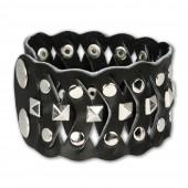 SilberDream Lederarmband schwarz Unisex Leder Armband LAC162S
