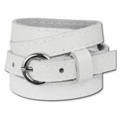 SilberDream Lederarmband weiß unisex Leder Armband LAC560W