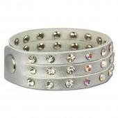 SilberDream Lederarmband silbern CZ Damen Leder Armband LAC222K