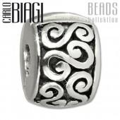 Carlo Biagi Bead Clip Antik Design Silber European Beads BSFC09
