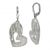 SilberDream Ohrhänger Doppelherz 925 Sterling Silber Ohrring SDO324