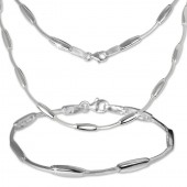 SilberDream Schmuck Set Collier Armband Design 925 Silber SDS404