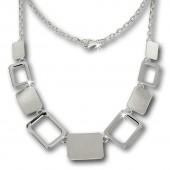 SilberDream Collier Kette Square 925 Vollsilber 45cm Halskette SDK411