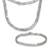 SilberDream Schmuck Set Trendy Collier Armband 925 Silber SDS407