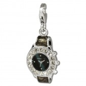 SilberDream Charm Armbanduhr Zirkonia 925er Armband Anhänger FC657