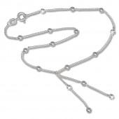 SilberDream Fußkette Silber-Kugeln 25cm 925 Silber SDF013