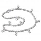 SilberDream Fußkette Bollywood 25,5cm 925 Sterling Silber SDF015