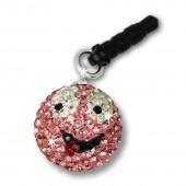 SilberDream Smiley Handy Anhänger rosa Zirkonia 925er Silber GST001A