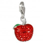 SilberDream Glitzer Charm Apfel rot Zirkonia Kristalle GSC512R