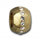 Amello Megabead Stahl Kugel gold Swarovski Elements Armband AMZ082Y