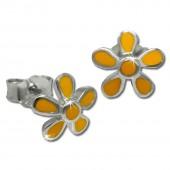 Kinder Ohrring Blume gelb Silber Ohrstecker Kinderschmuck TW SDO209Y