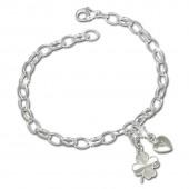 SilberDream Charm Set Glück 925er Silber Armband Anhänger FCA302