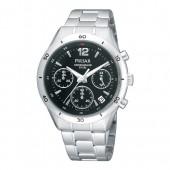 Pulsar Damenuhr Chronograph schwarz Sport Uhren Kollektion UPT3091