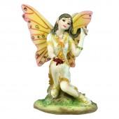 SilberDream Elfe sitzend auf einem Fels Figur Fairylandset EF157062