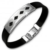 Amello Edelstahlarmband Karos Herren Damen Unisex Armband ESA506S