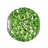 SilberDream Glitzer Bead Swarovski Elements grün Shiny GSB208