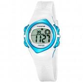 Calypso Damenuhr Chronograph wei-blau Uhren Kollektion UK56303 UK56303