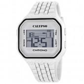 Calypso Herrenuhr Chronograph wei Digital Uhren Kollektion UK56281 UK56281