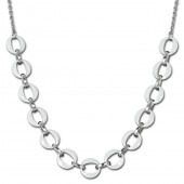 Amello Halskette Keramik Ringe weiß Damen Edelstahlschmuck ESKX02W